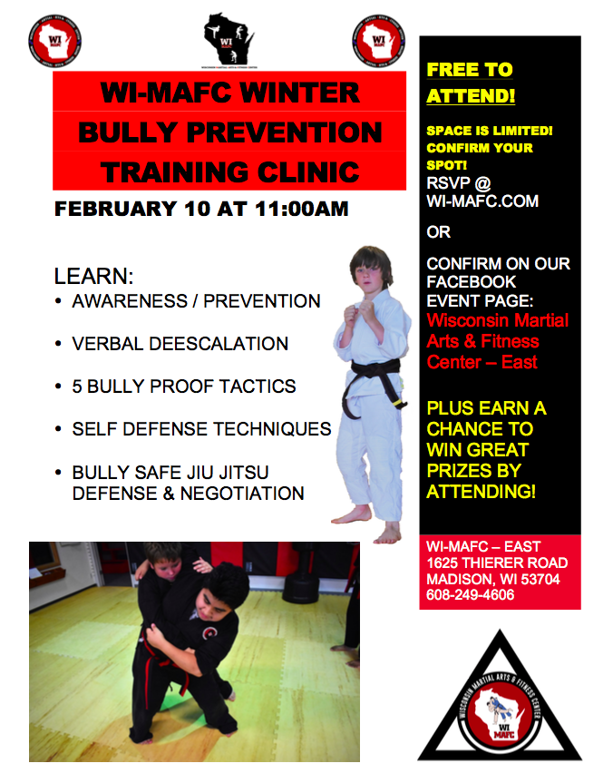Winter Bully Prevention Training Clinic - WI-MAFC